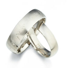 His and Her Matte Matching Titanium Wedding Rings 091A3