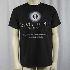 Authentic DEATH NOTE How To Use It Anime T-Shirt S M L XL XXL NEW