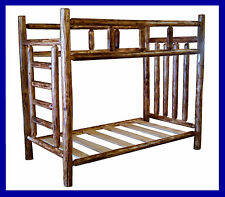 Cedar Rustic Log Bunk Bed - Mackinaw Series - EASY ASSEMBLY!