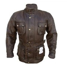 Bikers Gears UK Vintage BROWN Motorcycle Waxed Treated Matured Leather Jacket