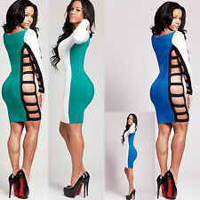 Lady Women Sexy Patchwork Lingerie Side Hollow Stripper Dress Intimate Clubwear