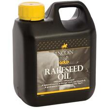 LINCOLN OMEGA GOLD RAPESEED OIL (1L - 4L) horse pony vitamins energy nutrition