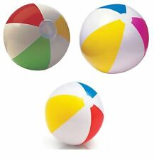 """16"""" 20"""" 24"""" INFLATABLE BLOW UP PANEL BEACH BALL HOLIDAY SWIMMING POOL PARTY TOY"""