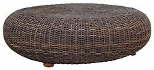 KIWI HANDMADE RATTAN WICKER ROUND COFFEE TABLE UNIQUE DESIGN TROPICAL STYLE