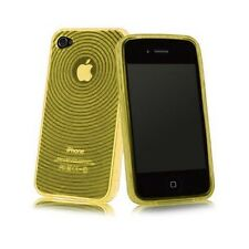 YELLOW TPU SOFT RUBBER PROTECTIVE SKIN CASE SILICONE COVER for iPhone 4 4S 4G