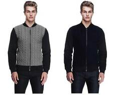 New Armani Exchange AX Mens Slim/Muscle Fit Cable Front Sweater Jacket