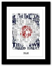 THE JAM Town Called Malice 2❤ song lyrics typography poster art print - A1 A2 A3