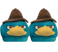Perry The Platypus Agent P Disney Cartoon Plush Mens Slippers