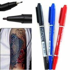 FD163 Dual-Tip Tattoo Skin Marker Piercing Marking Pen Scribe Tool Surgical~@~