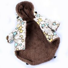Size M/S/L New Puppy Dog Apparel Small Dot Pet Clothing FIVE Stars Warm Beige