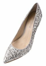 Boutique 9 by Nine West Sally Womens Silver/Grey Sparkle High Heel Shoes