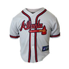 Atlanta Braves Replica Road Grey Jersey Infants Toddlers SZ (12M-24M) Majestic