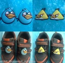 1 Free 1 Angry Bird Cute Rubber Blue Yellow Beige Black Red Stick Boy Kids Shoe