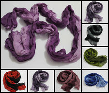"New Women's ladies girls 20""X60"" Long Soft Wrinkle scarf wrap shawl candy"
