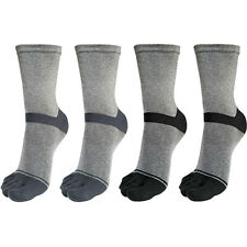 "Lot of 4 Pairs Mens Fashion Dress Toe Socks ""Skin contact surface is 100% cotton"