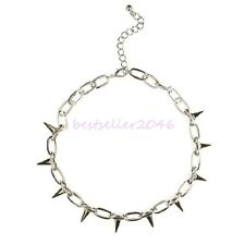 Fantasy Spike Rivet Mens Ladies Punk Rock Link Chain Necklace Choker