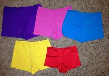 NEW Marcea Colored or Black Jazz Dance Costume Booty Shorts Child & Adult Sizes