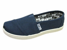 NEW KIDS TOMS YOUTH CLASSICS GIRLS BOYS CLASSIC NAVY BLUE CANVAS ORG 012001C13