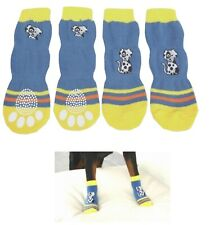 Dog Socks LARGE Breed 25-45 Kilo Blue  -Big  Clothes Slippers Pet Paw  Protect