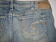 New Silver Jeans AIKO Boot Cut Mid-Rise Slightly Curvy Fit Slim Hip 140410A