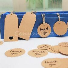 Brown Paper Kraft Tags Wedding Party Favour Gift Bag Name Label With Twine
