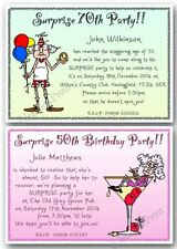 Personalised Surprise Birthday Party Invitations 30th 40th 50th 60th 70th 80th
