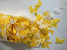 Biodegradable Wedding Confetti Yellow Ivory White Butterflies Table Decorations