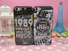 For iPhone 4 4S 5 5S 1989 Mucis Ace Spades Graffiti Back Cover Case Skin