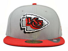 Kansas City Chiefs NEON LOGO POP 59Fifty NFL Hat by New Era=Grey/Red