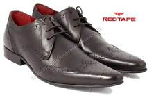 Red Tape Anker Mens Pointy Pointed Toe Lace Up Brogues Black or Brown