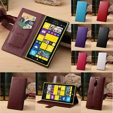 Luxury Wallet Stand Leather Case Cover For Nokia Lumia 1520 + Screen Protector