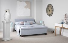 HAZE SLEIGH BEDSTEAD / BED IN FOUR SIZES AND THREE COLOURS, FREE DELIVERY