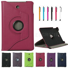 "360° Rotate Litchi PU Leather Stand Case Cover For Dell Venue 8"" Android Tablet"