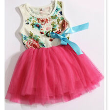 Beautiful Baby Girls Kid One-Piece TuTu Dress Sleeveless Dress Princess Skirt
