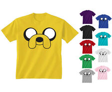 Youth Kids Childrens Adventure Time Jake The Dog Face T-shirt Age 5-13 Years
