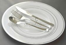 Bulk, Wedding Party Disposable Plastic Plates and silverware, Masterpiece Style