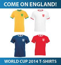 ENGLAND WORLD CUP T SHIRT - FOOTBALL SHIRT BRAZIL 2014 TEE NEW