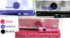 Herstyler Baby Curl Pick a Color LOT Black Pink Purple Curling Iron & Free Glove
