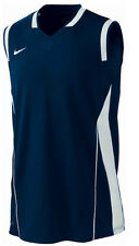 Tall Men's New Nike 'Dri-fit' Basketball Vest Top Sleeveless T-Shirt - Navy Blue