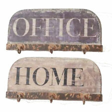 New Heaven Sends Home Office Wall Plaque Sign, Hooks Hanging Shabby Chic Vintage