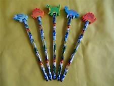 DINOSAUR PENCILS with ERASERS(rubbers) - PARTY/PINATA/ LOOT BAG TOYS -You choose
