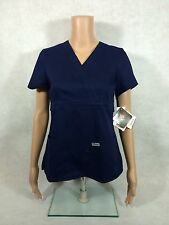 Grey's Anatomy Mock Wrap Scrub To. Style 4153. Indigo(Navy). *NEW*  *Free Ship*