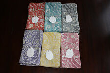 Pottery Barn Salma Tile Napkins Set of 4 U pick color New with tag