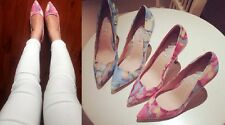 Fashion Ladies Ink Painting pointed High Heels shoes