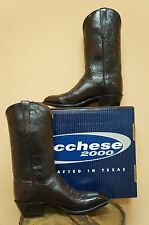 MENS LUCCHESE COWBOY BOOTS! BLACK CHERRY! T3203.S4 2000 COLLECTION! MADE IN USA