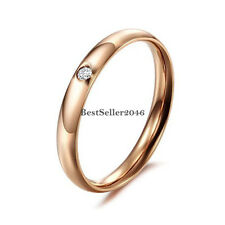 Damen Edelstahl Band Ring Trauring Verlobungsring Partnerring Ehering Rose Gold