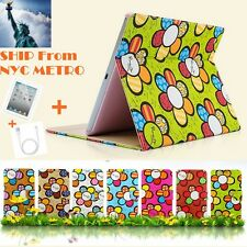 New Cute Sun-Flower Pattern Fashion Leather Case Cover Skin For Apple iPad Air 5