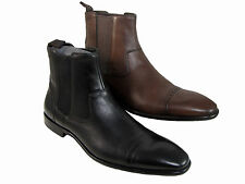 Hugo Boss Mens Metran Black or Brown Casual Cap Toe Fashion Dress Ankle Boots