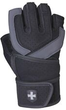Harbinger 1250 Training Grip Wrist Wrap Weight Lifting Gloves