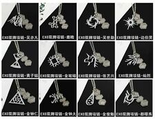 NEW EXO EXO-K EXO-M Member Logo Two-Tags Pendant Necklace